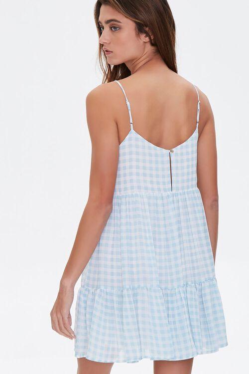 BLUE/CREAM Gingham Mini Dress, image 3