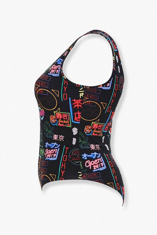 Plus Size Neon Sign Bodysuit, image 2