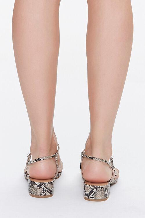 Faux Snakeskin Toe-Loop Block Heels, image 3