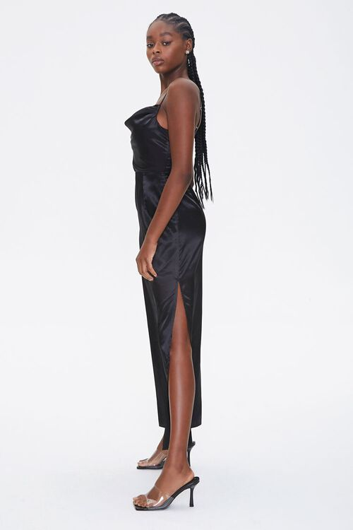 Satin Cowl Neck Maxi Dress, image 3