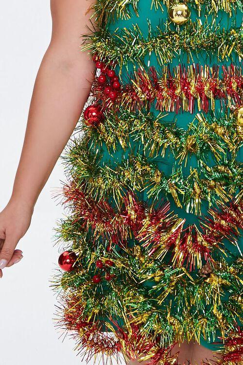 Plus Size Tinsel Garland Mini Dress, image 5