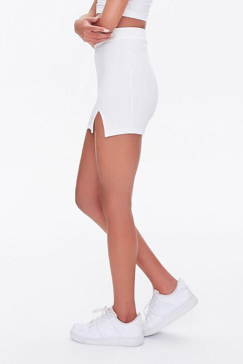 WHITE Vented Mini Skirt, image 3