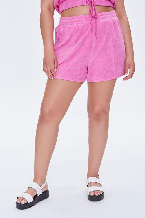 Plus Size Cotton-Blend Shorts, image 2