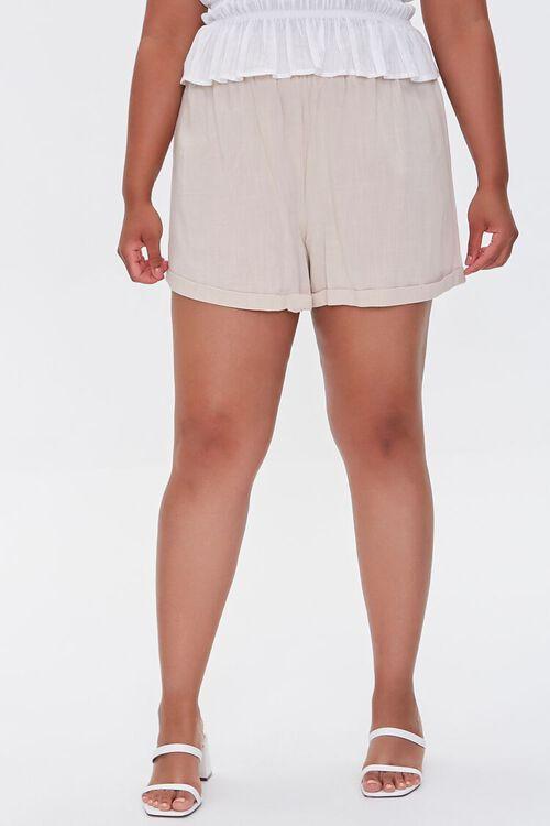 Plus Size Smocked Shorts, image 2