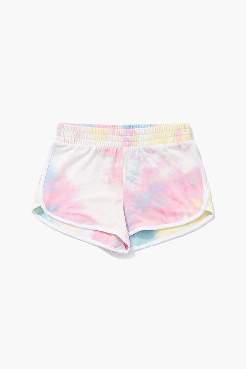 Girls Tie-Dye Dolphin Shorts (Kids), image 1