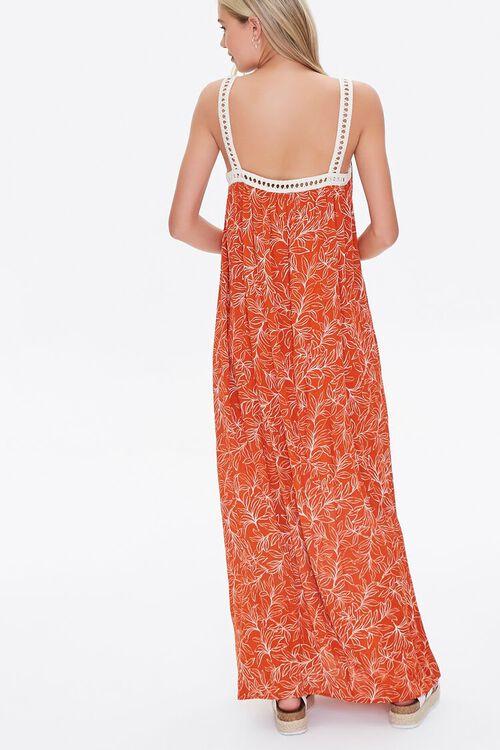 Leaf Print Crochet-Trim Dress, image 4
