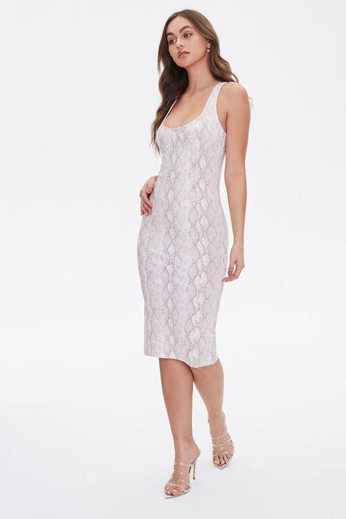 Snakeskin Print Tank Dress, image 5