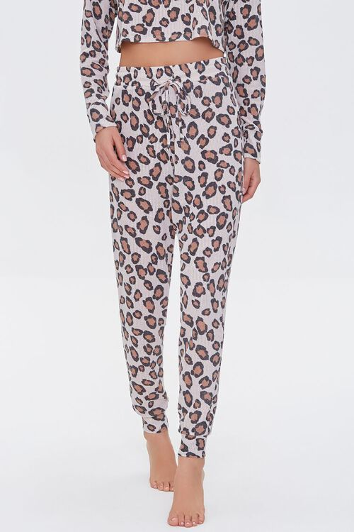 BEIGE/MULTI Leopard Print Lounge Pants, image 2