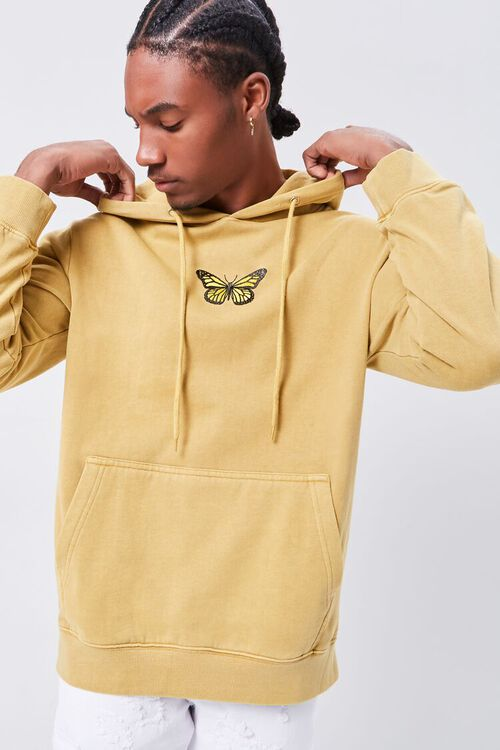 Butterfly Embroidered Graphic Hoodie, image 1