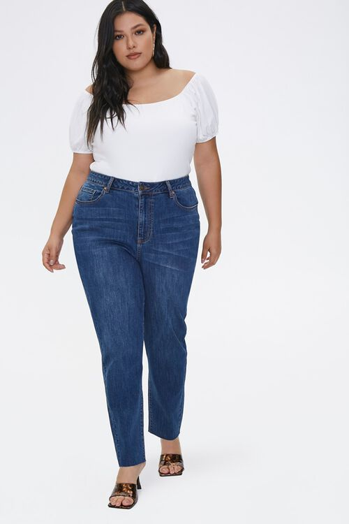 Plus Size High-Rise Mom Jeans, image 1