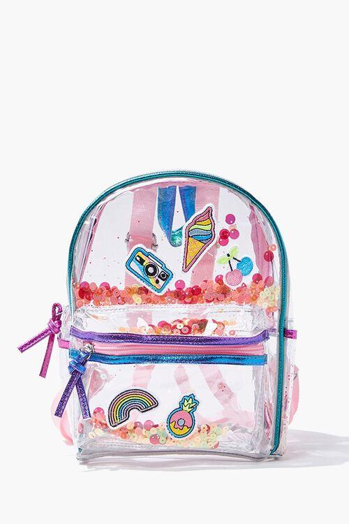 Girls Transparent Sequin Backpack  (Kids), image 1