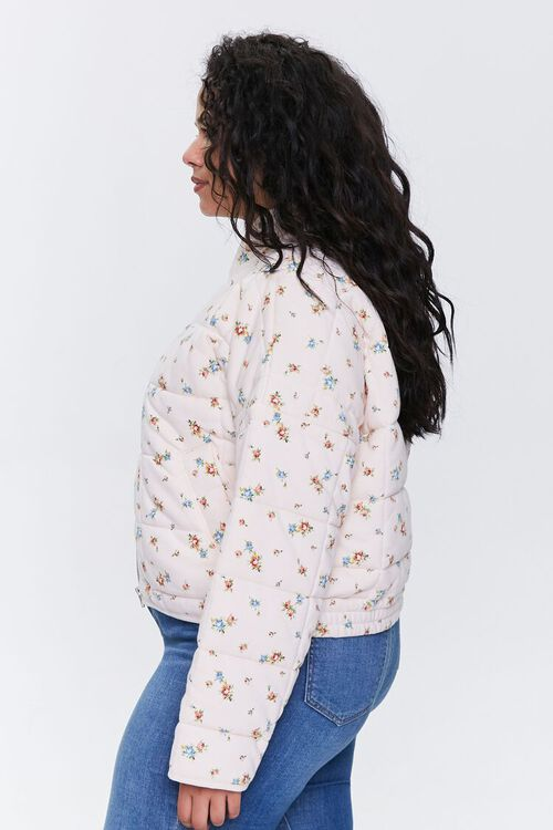 Plus Size Floral Puffer Jacket, image 2