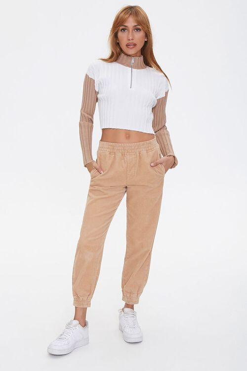 Sweater-Knit Colorblock Pullover, image 4