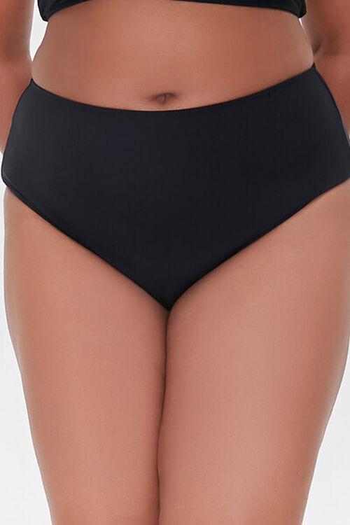 Plus Size High-Rise Bikini Bottoms, image 2
