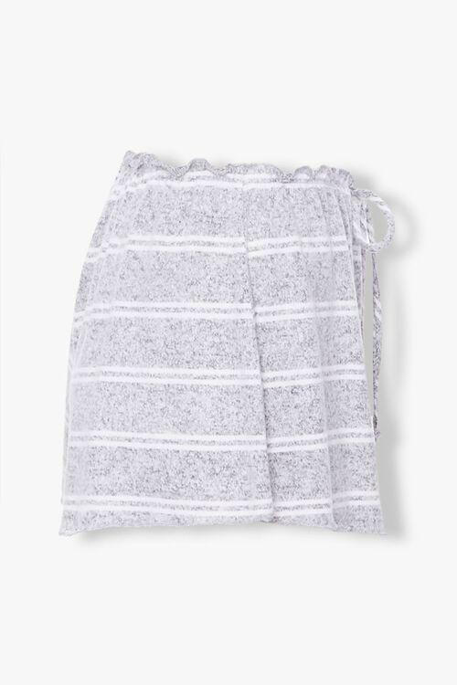 GREY/WHITE Striped Lounge Shorts, image 2
