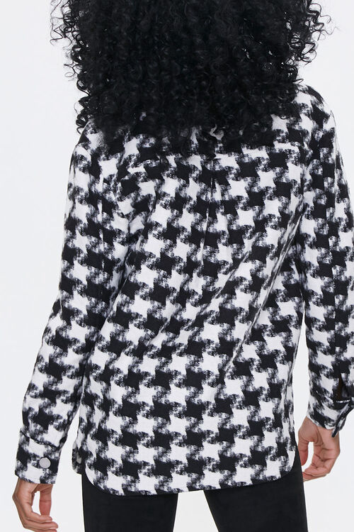 Houndstooth Button-Front Jacket, image 3