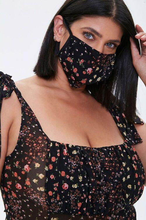 BLACK/MULTI Plus Size Bodysuit & Face Mask Set, image 5