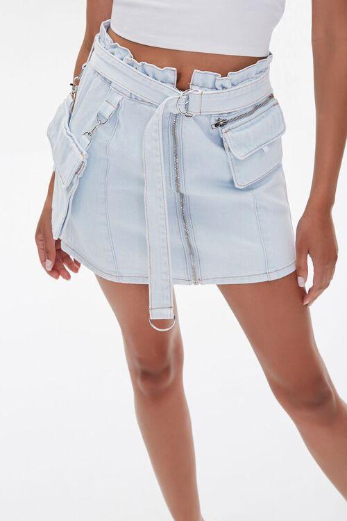 Denim Paperbag Mini Skirt, image 1