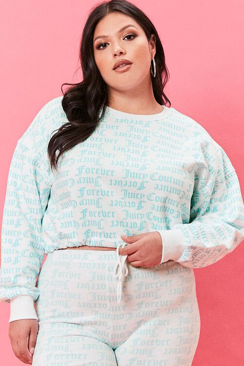 Plus Size Juicy Couture Fleece Pullover, image 1