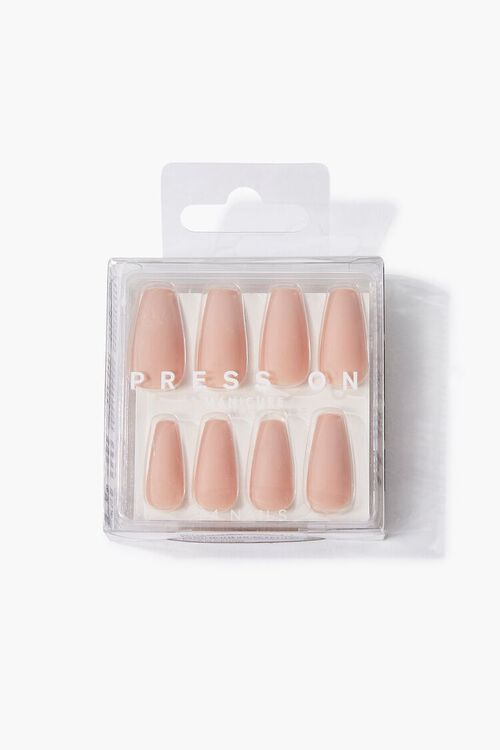 BROWN Opaque Square Press-On Nails, image 1