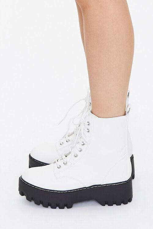 Faux Leather Lace-Up Platform Boots, image 2