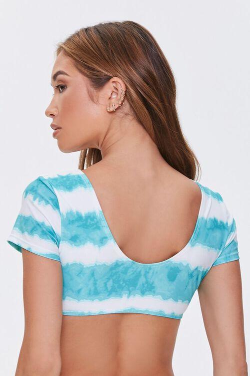 Striped Tie-Dye Bikini Top, image 3