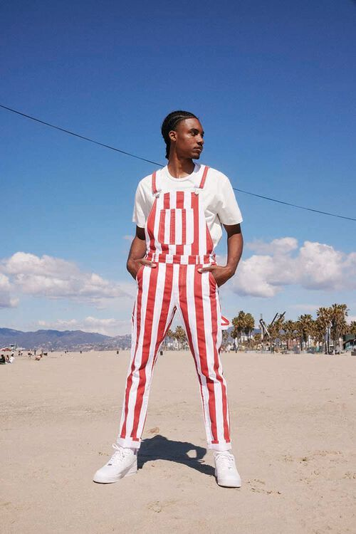 Bold Vertical Striped Overalls, image 1