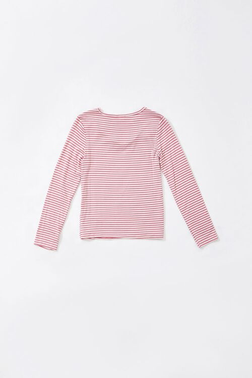 Girls Striped Ruffled-Trim Top (Kids), image 2