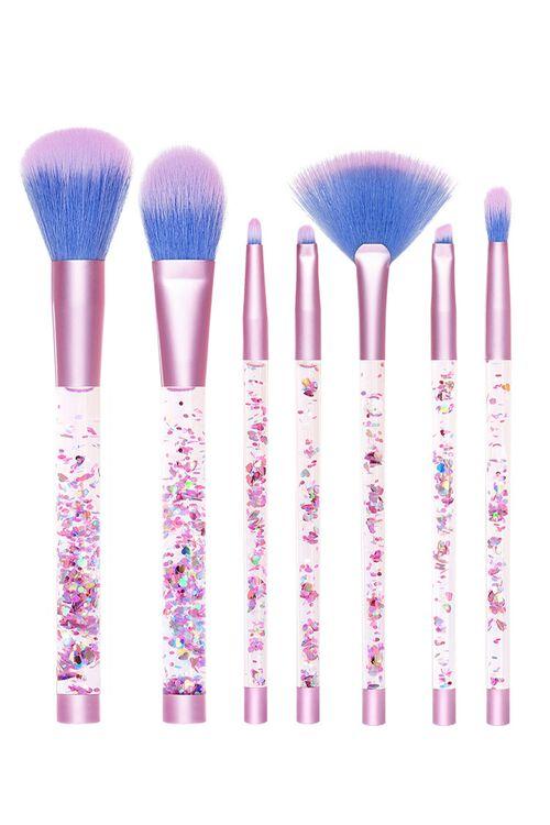 Aquarium Liquid Glitter Makeup Brush Set & Pouch, image 1