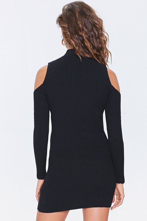 Open-Shoulder Sweater Dress, image 3
