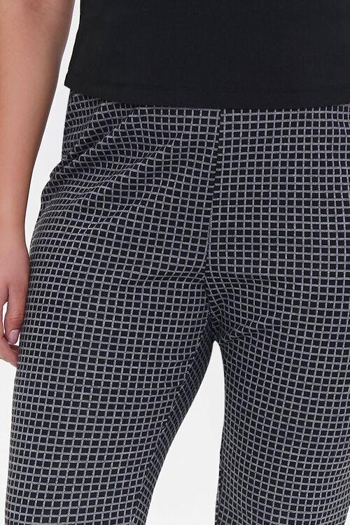 Plus Size Checkered Print Leggings, image 5
