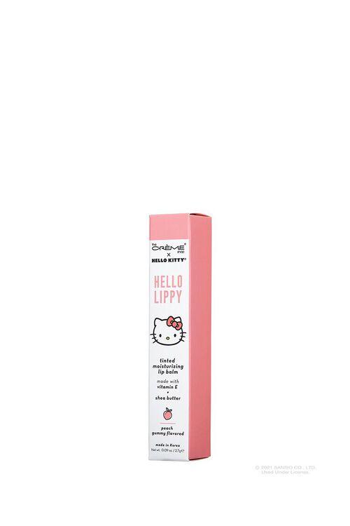 WHITE/PINK The Crème Shop HELLO LIPPY Moisturizing Tinted Lip Balm - Peach Pout, image 3
