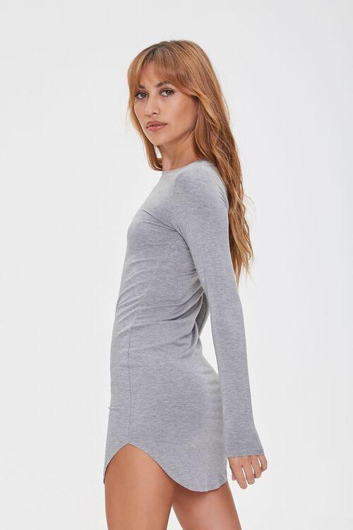 HEATHER GREY Mini T-Shirt Dress, image 2