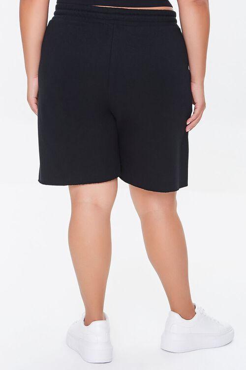 BLACK Plus Size Boyfriend Sweatshorts, image 4