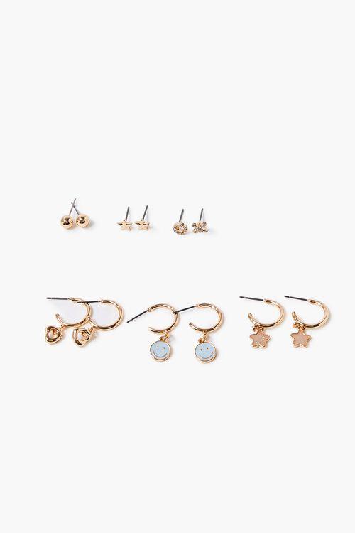 Star Charm Hoop & Stud Earring Set, image 1
