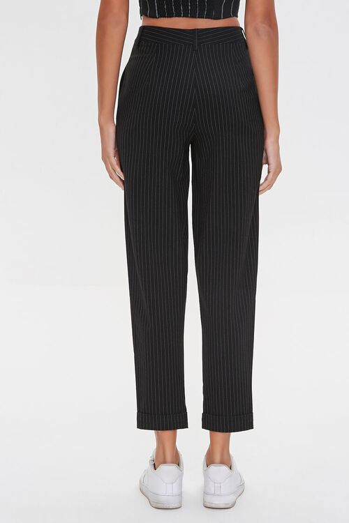 BLACK/WHITE Pinstriped Ankle Pants, image 4