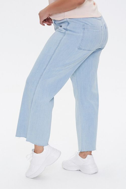 Plus Size Pinstriped Wide-Leg Jeans, image 3