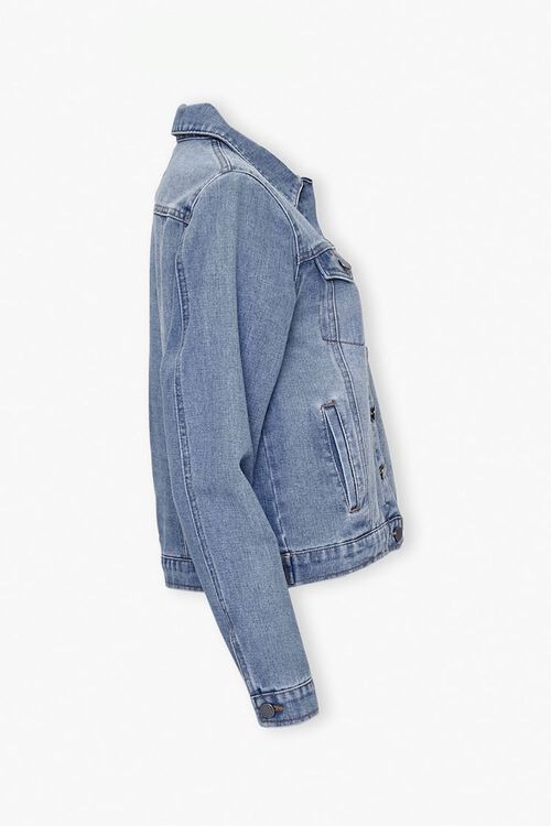 Button-Front Denim Jacket, image 2