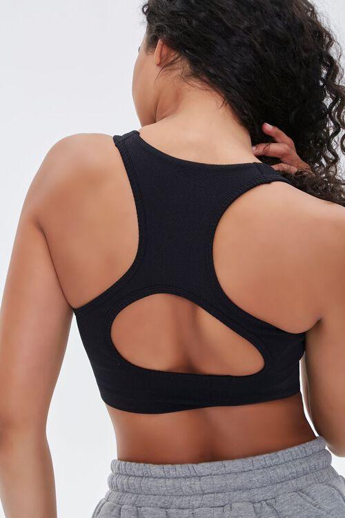 Seamless Back-Cutout Sports Bra, image 1