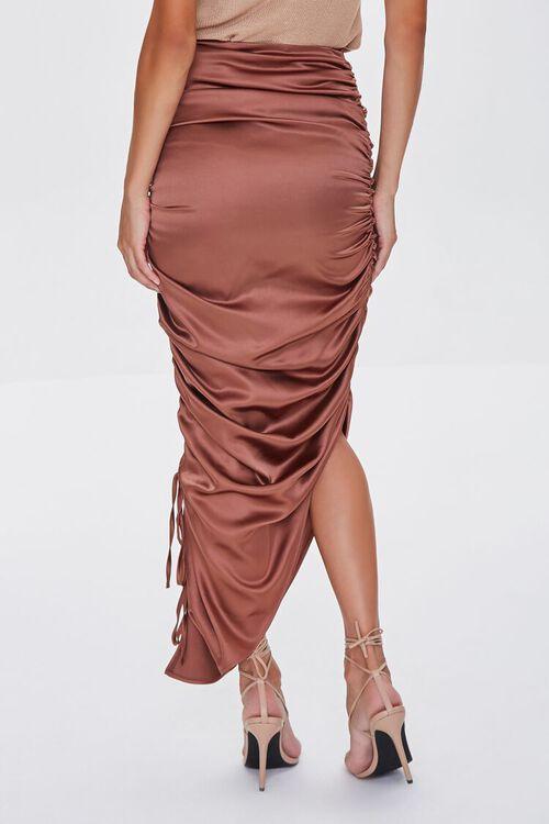 Satin Ruched Drawstring Skirt, image 4