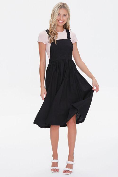 Linen-Blend Pinafore Dress, image 4