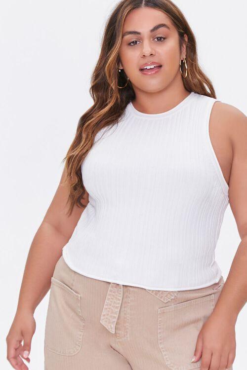 Plus Size Sweater-Knit Tank Top, image 1