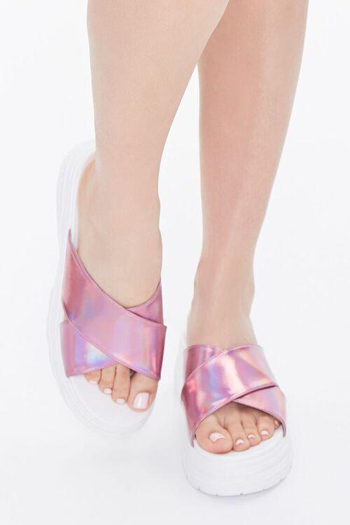 Iridescent Flatform Sandals, image 4