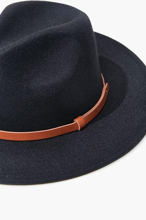 Faux Leather-Trim Felt Fedora, image 5