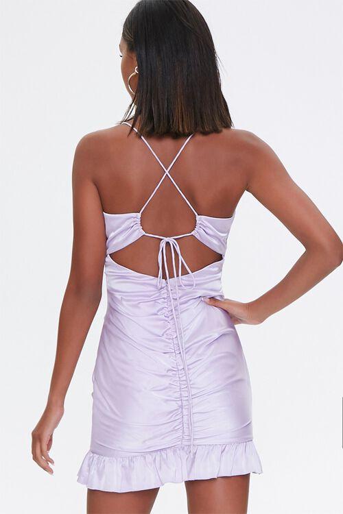 Ruched Satin Mini Dress, image 3
