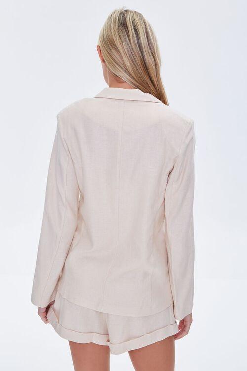 BEIGE Double-Breasted Linen Blazer, image 4