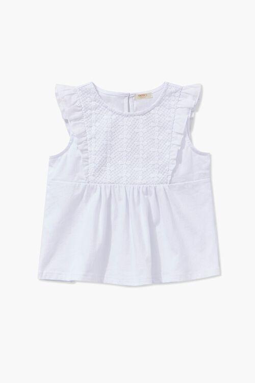 Girls Crochet Lace Top (Kids), image 1