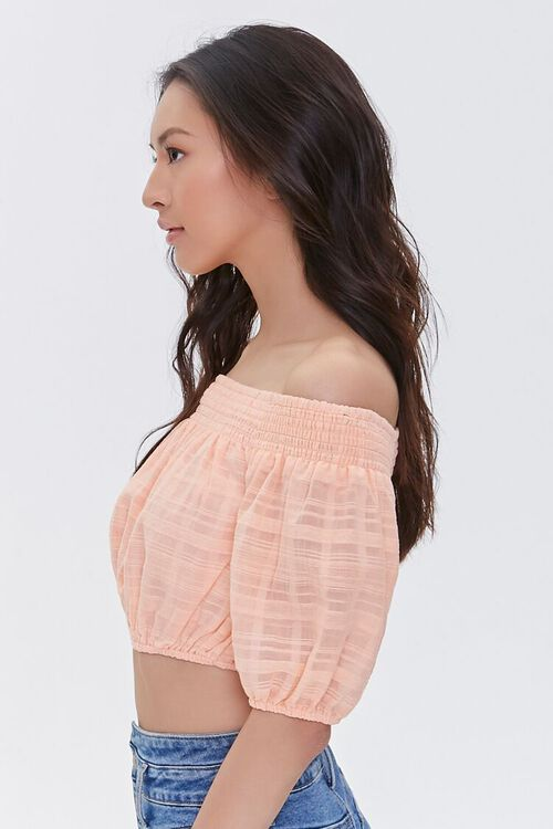 Shadow-Striped Off-the-Shoulder Crop Top, image 2