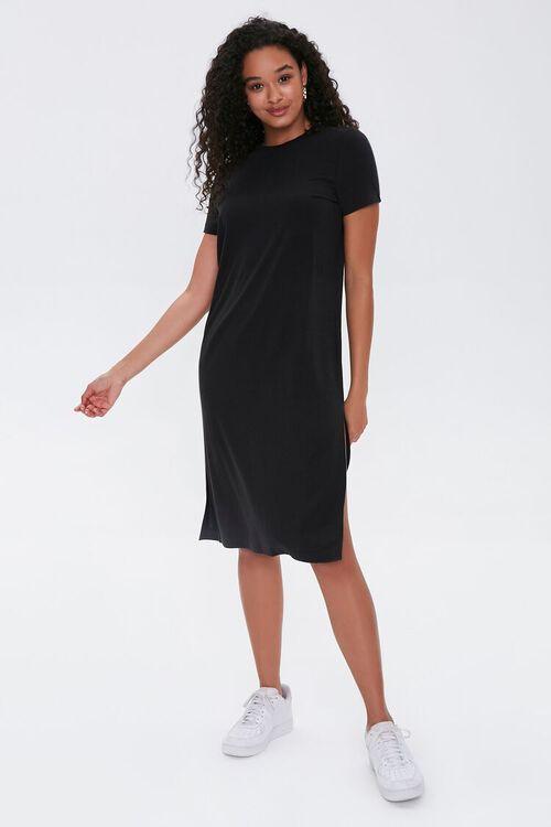 Leg-Slit T-Shirt Dress, image 2