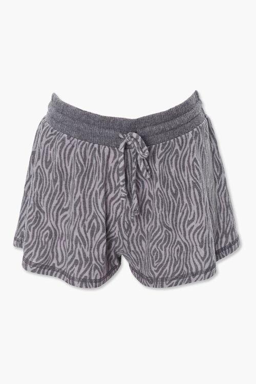Tiger Stripe Print Shorts, image 1